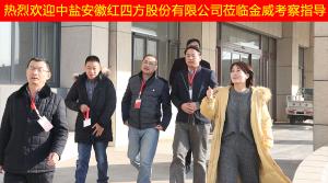 中盐安徽红四方股份有限公司领导莅临金威